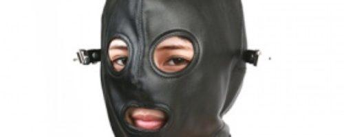 全頭フェイスマスク (目隠し・口開きタイプ)