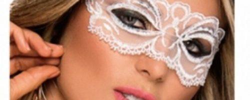 絵になるレースアイマスク (ホワイト)