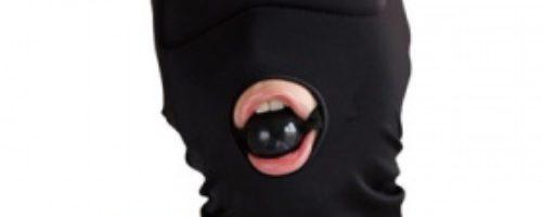 虜ベルベット 口枷付全頭マスク