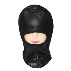 メタリックブラックマスク 鼻口穴タイプ