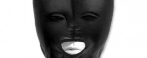 ボンデージ風口開きマスク