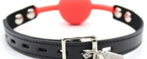 シリコン口枷 鍵付き (赤)