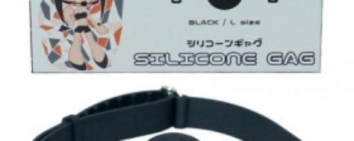 シリコンギャグ (L/ブラック)