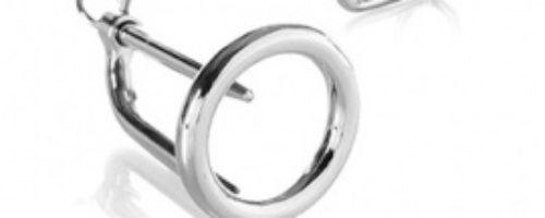 ペニスプラグ付きコックリング (45 mm)